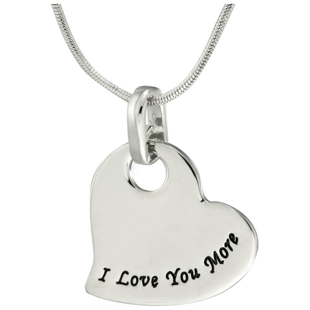 I Love You More Heart Necklace 1