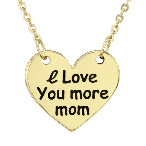 I Love You More Mom Necklace