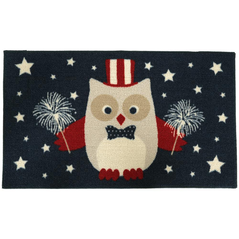 Independence Owl Mat