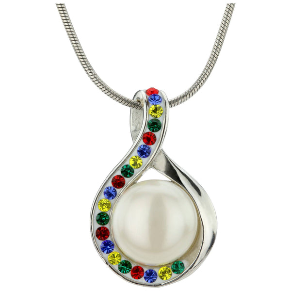 Infinite Hope™ Sterling & Pearl Autism Awareness Necklace