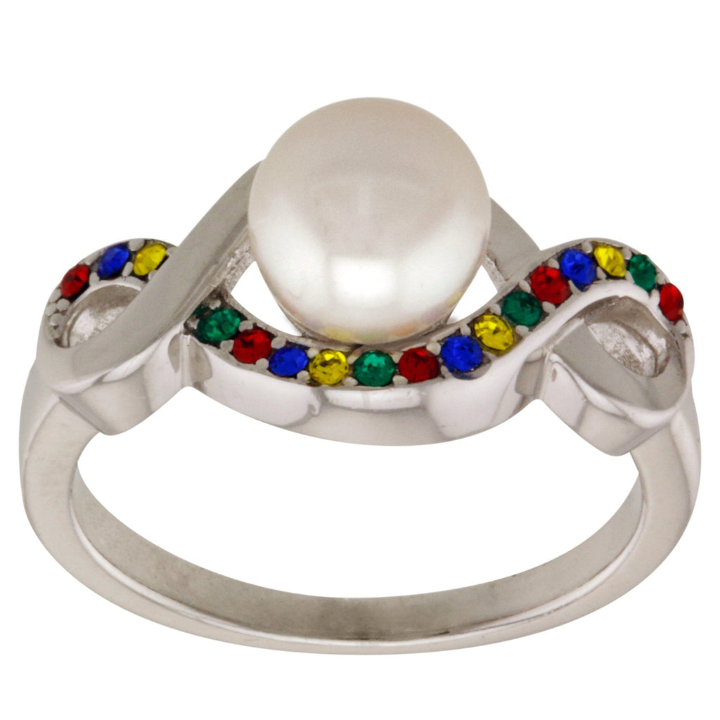 Infinite Hope™ Sterling & Pearl Autism Awareness Ring