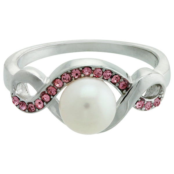 Infinite Hope™ Sterling & Pearl Pink Ribbon Ring