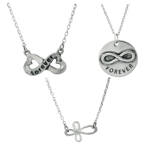 Infinite Strength Of Love Pewter Necklace