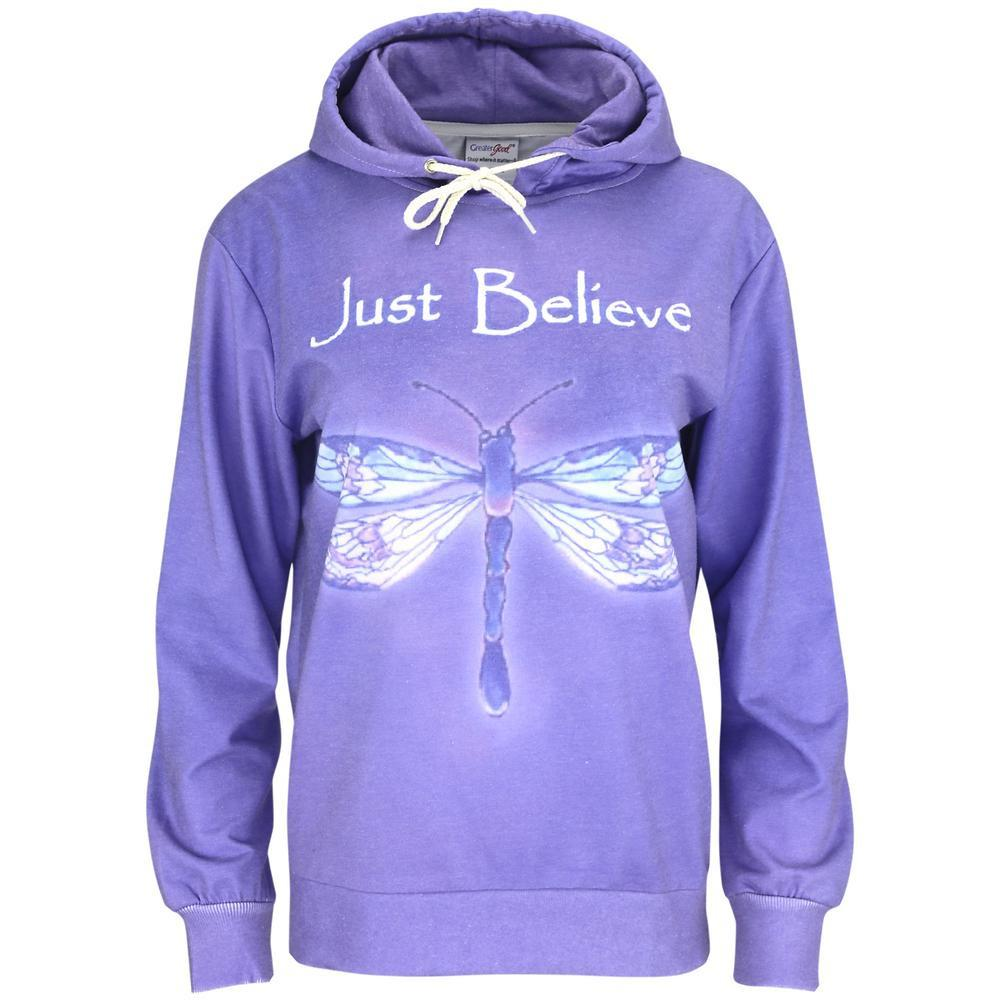 Just Believe Dragonfly Lightweight Hoodie