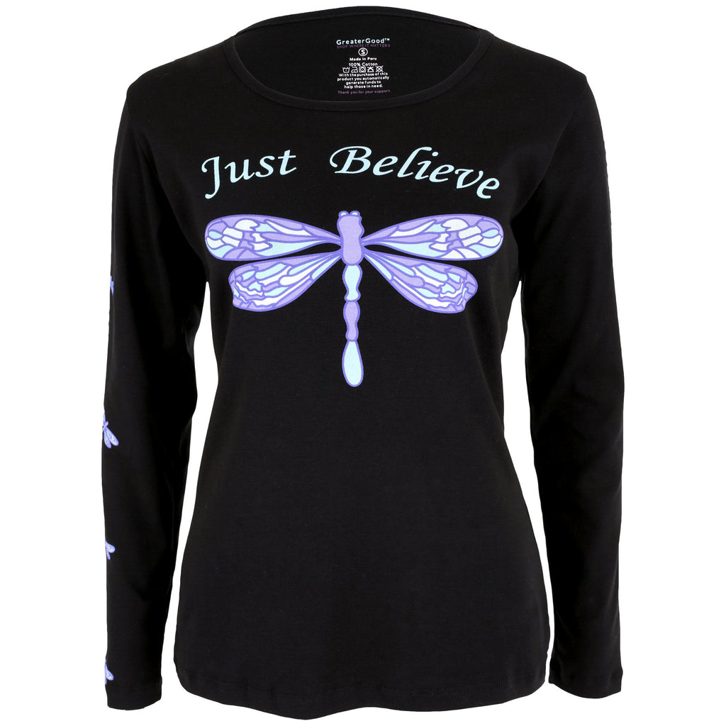 Just Believe Dragonfly Long Sleeve Tee