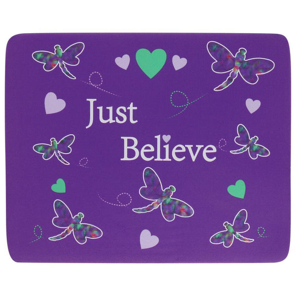 Just Believe Dragonfly Mousepad