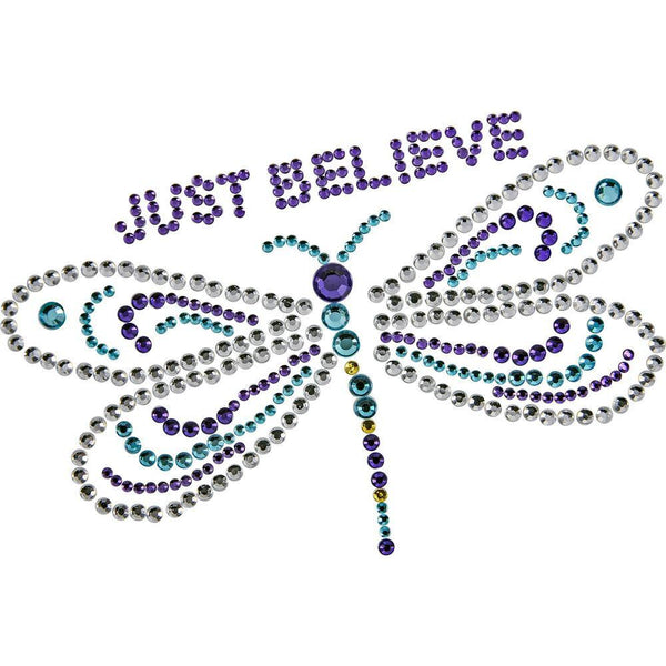 Just Believe Dragonfly Window Bling