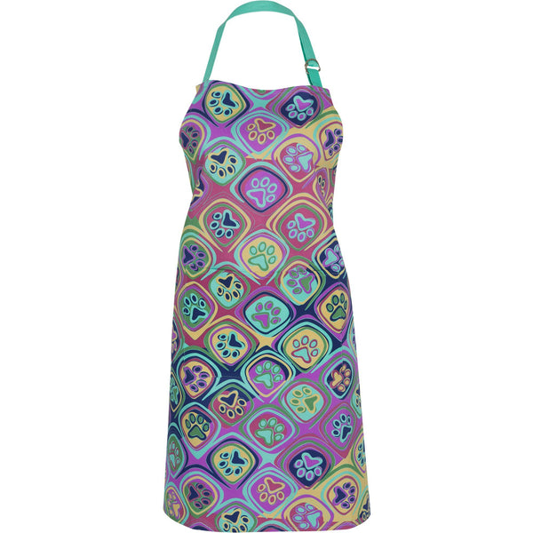 Kaleidoscope Of Paws Kitchen Apron