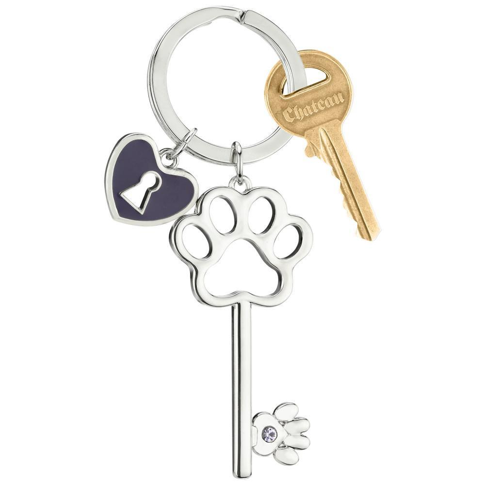 Key To My Heart Paw Keychain