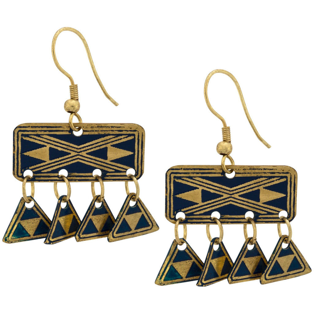 Kilim Fringe Earrings