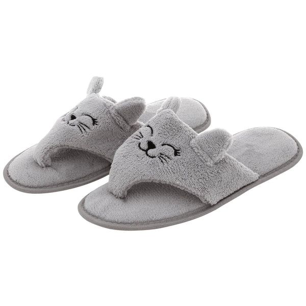Kitty Love Cozy Flip Flop Slippers