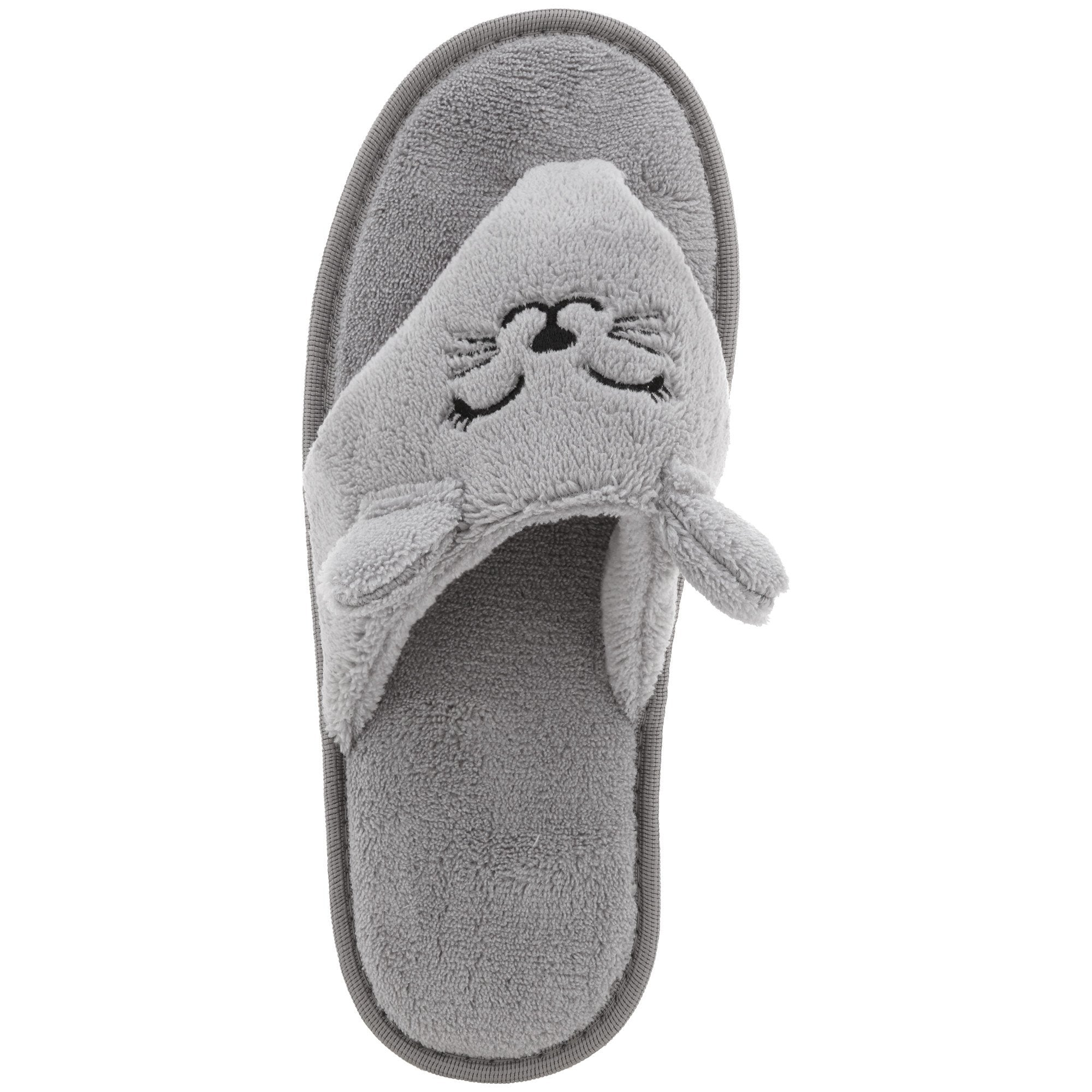 0cb82a00111f37 ... Kitty Love Cozy Flip Flop Slippers ...