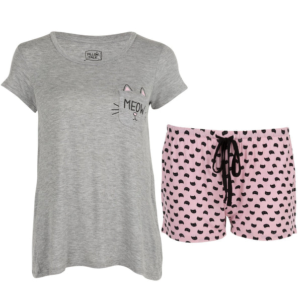 Kitty Pocket Pajama Shorts Set