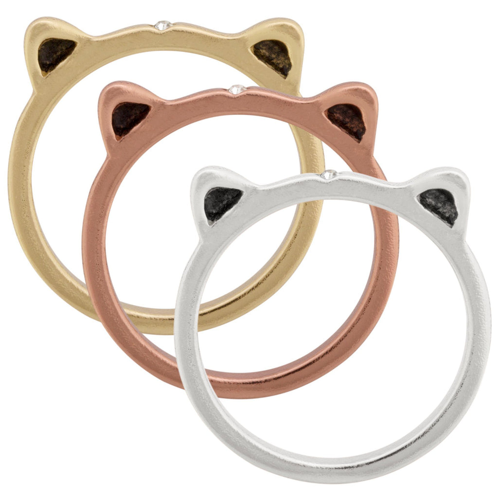Kitty Trio Stacking Rings Set