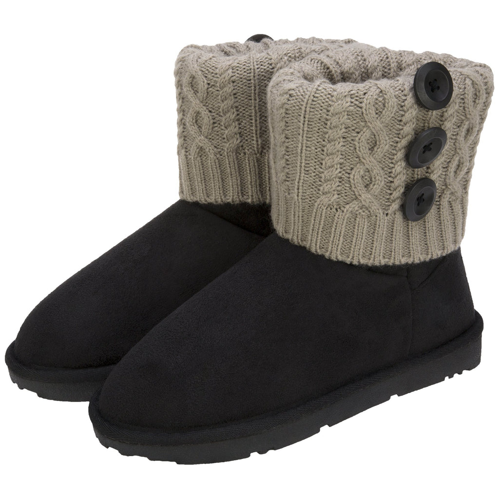 Knitted Comfort 3-in-1 Cuff Boots