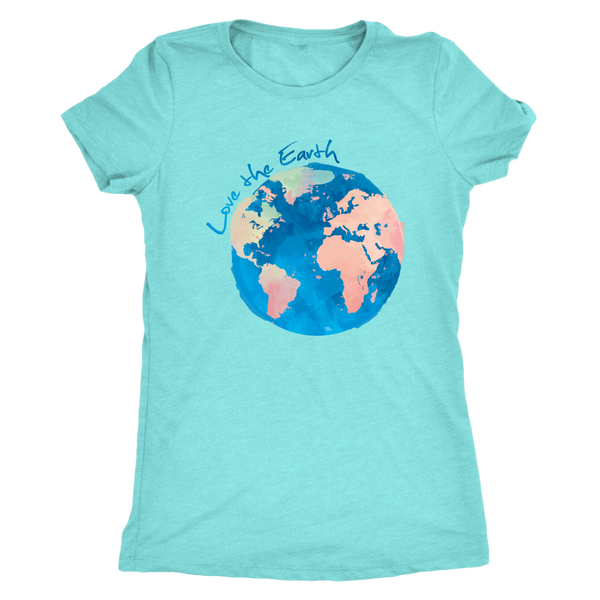 Watercolor Earth Fitted Triblend Tee