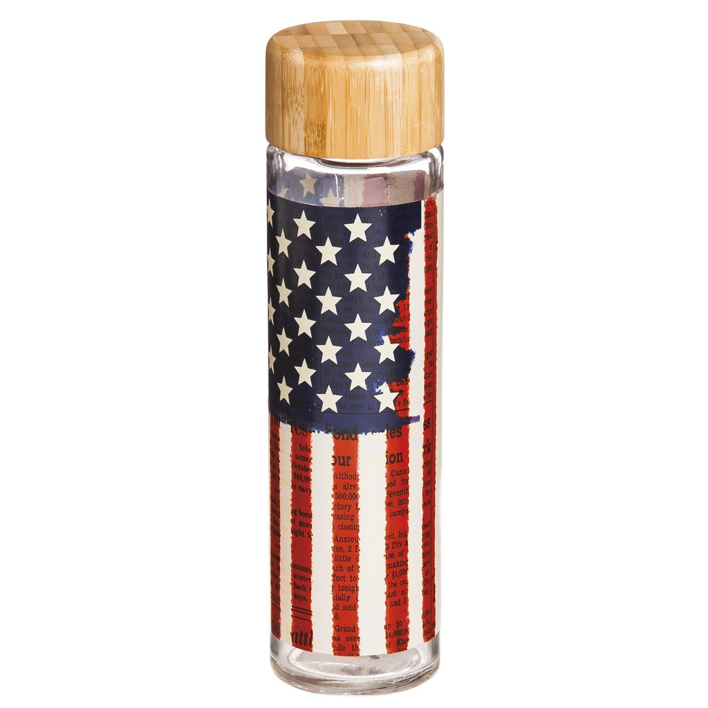 Land Of Liberty Glass Water Bottle