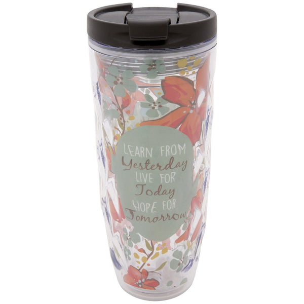 Learn Live Hope Textured Travel Tumbler