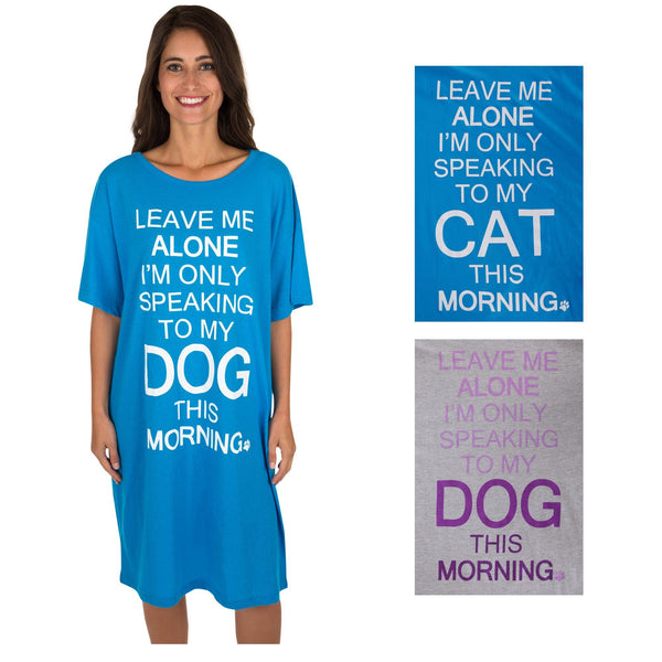 Leave Me Alone Pet Nightshirt