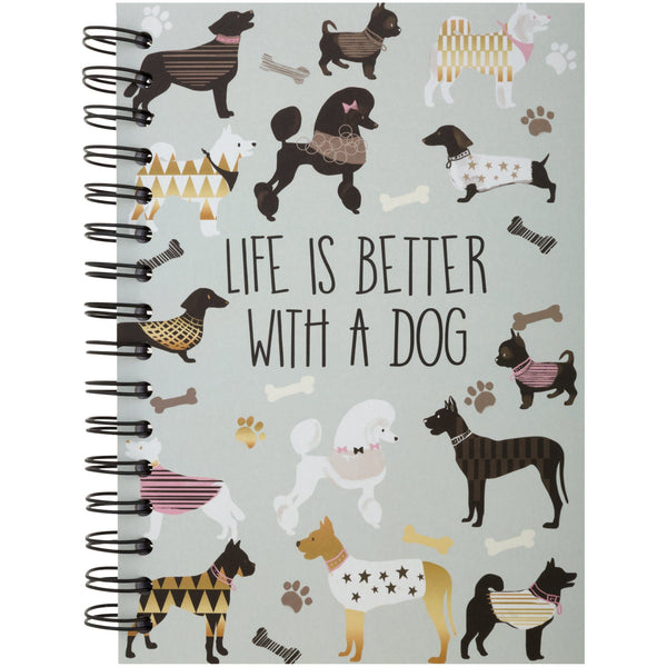 Life With A Dog Spiral Notebook
