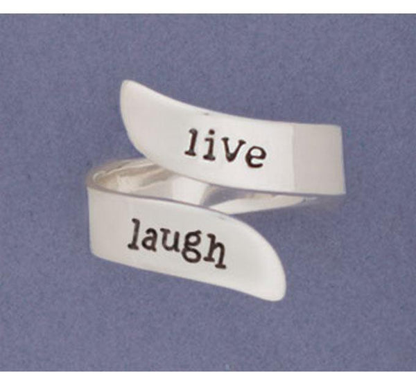 Live/Laugh Adjustable Sterling Ring