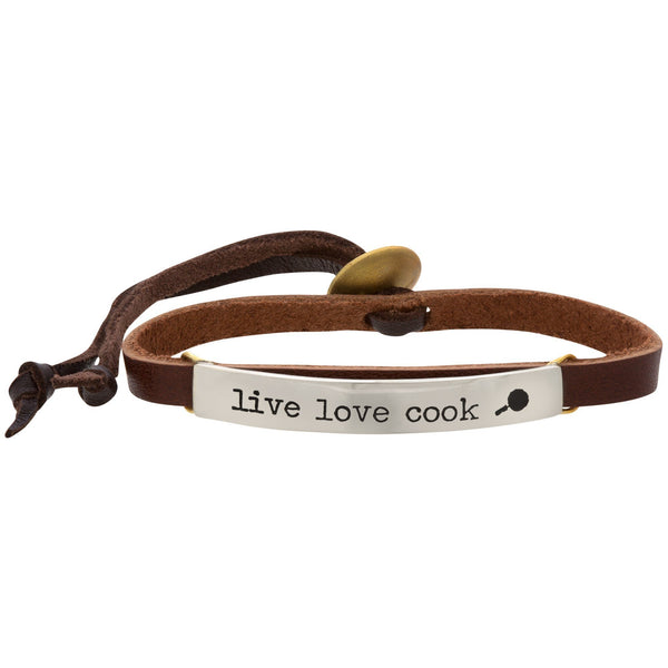Live Love Cook Leather Bracelet