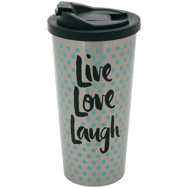 Live Love Laugh Stainless Steel Travel Mug