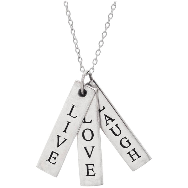Live Love Laugh Sterling Necklace