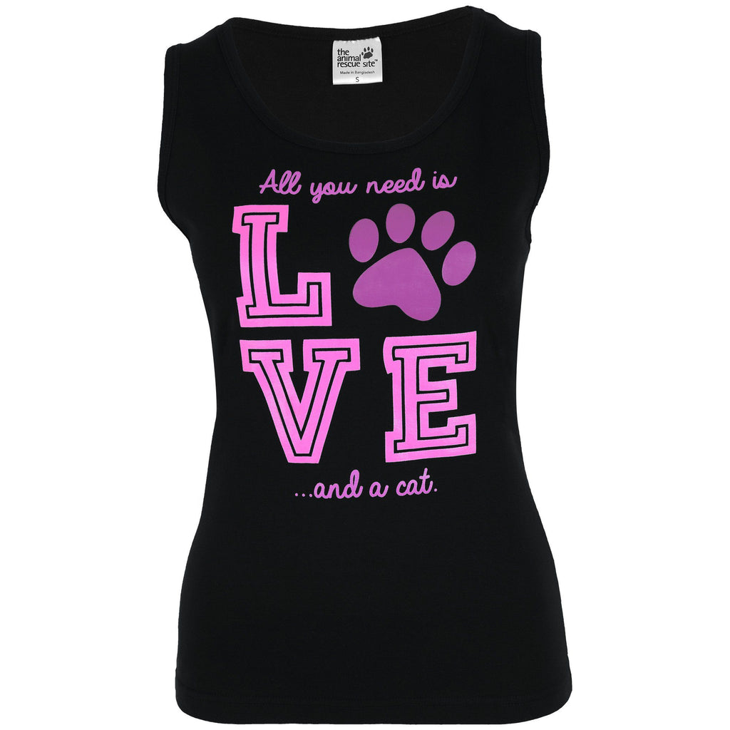 Love & A Cat Tank Top