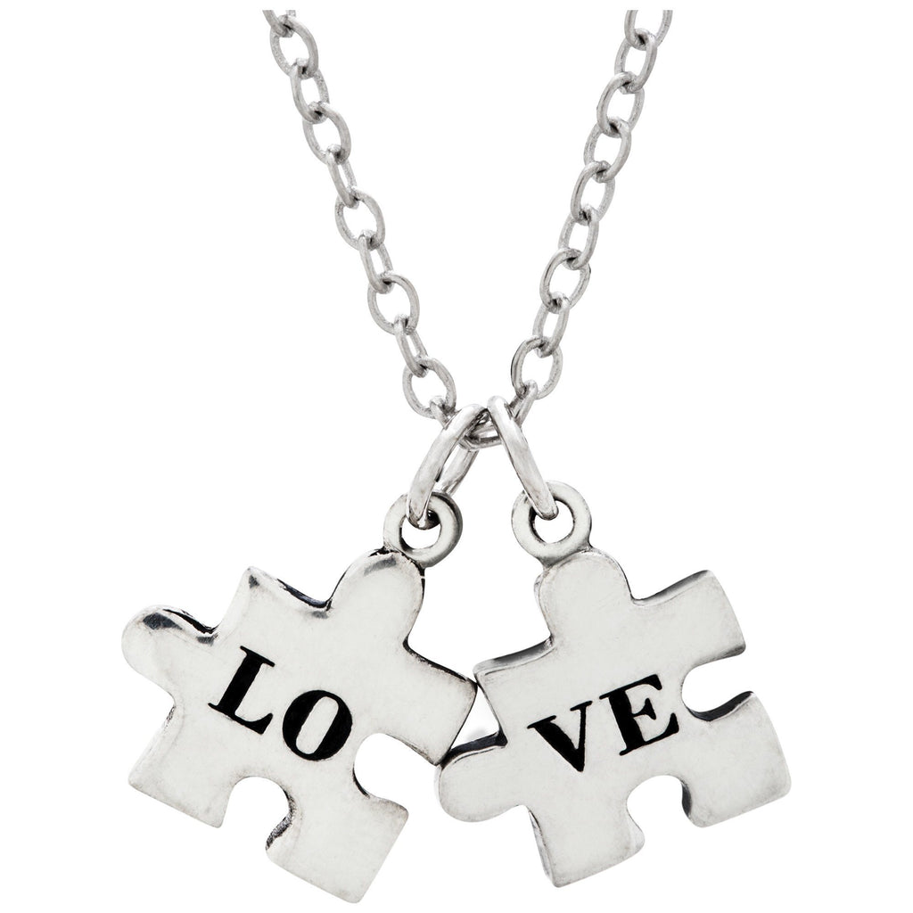 Love All The Pieces Pewter Necklace