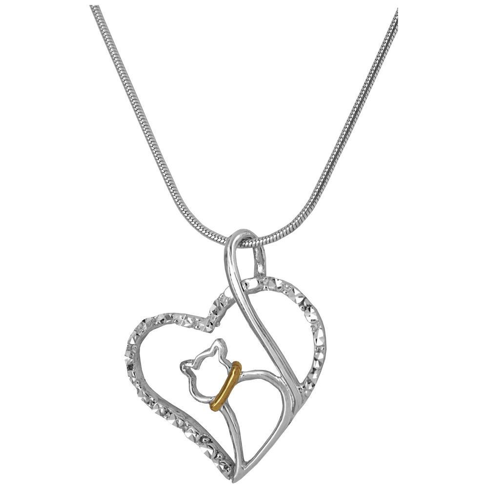 Love Cat Sterling Necklace