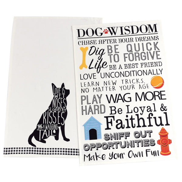 Love Is A Dog Dish Towels - Set Of 2