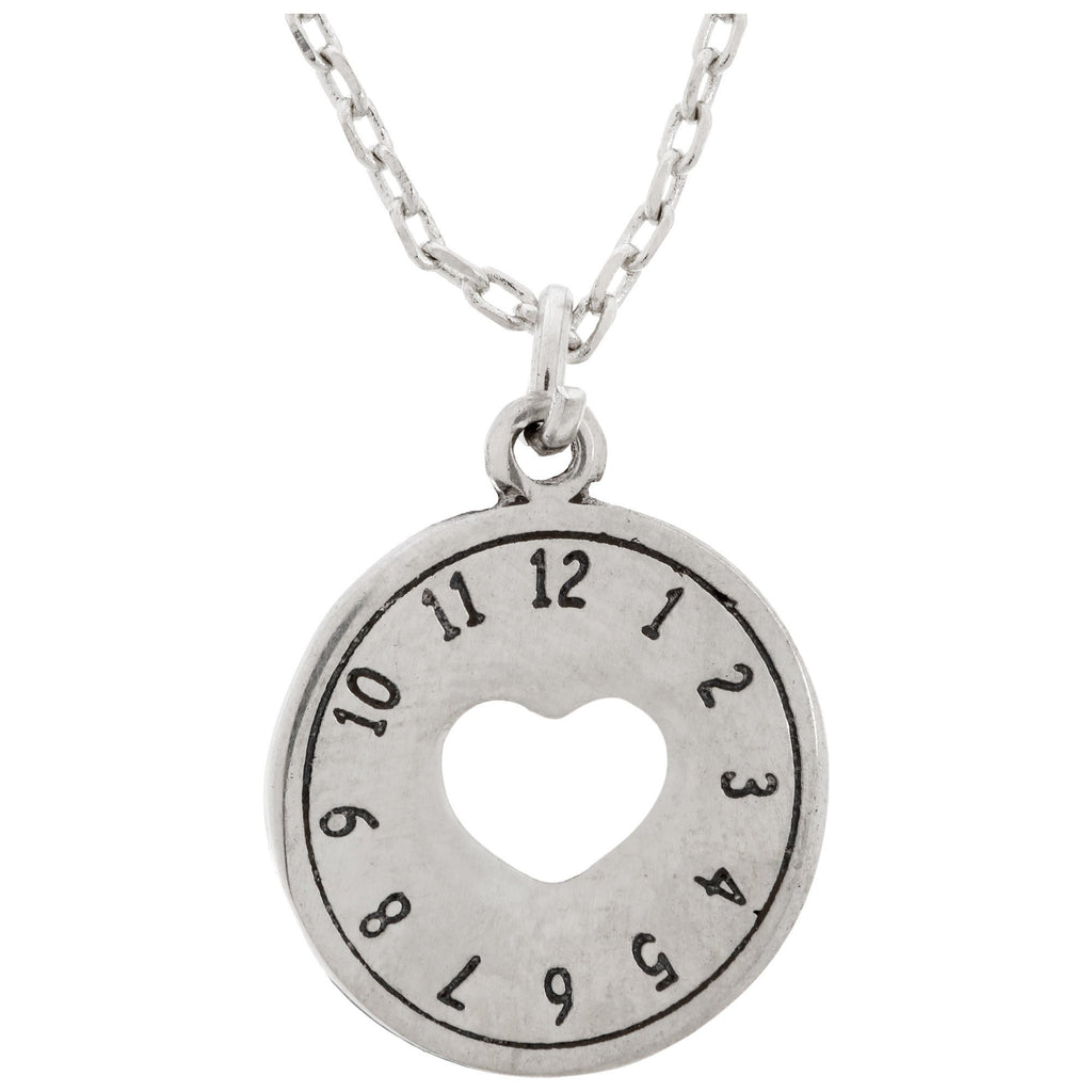 Love Is Timeless Pewter Necklace