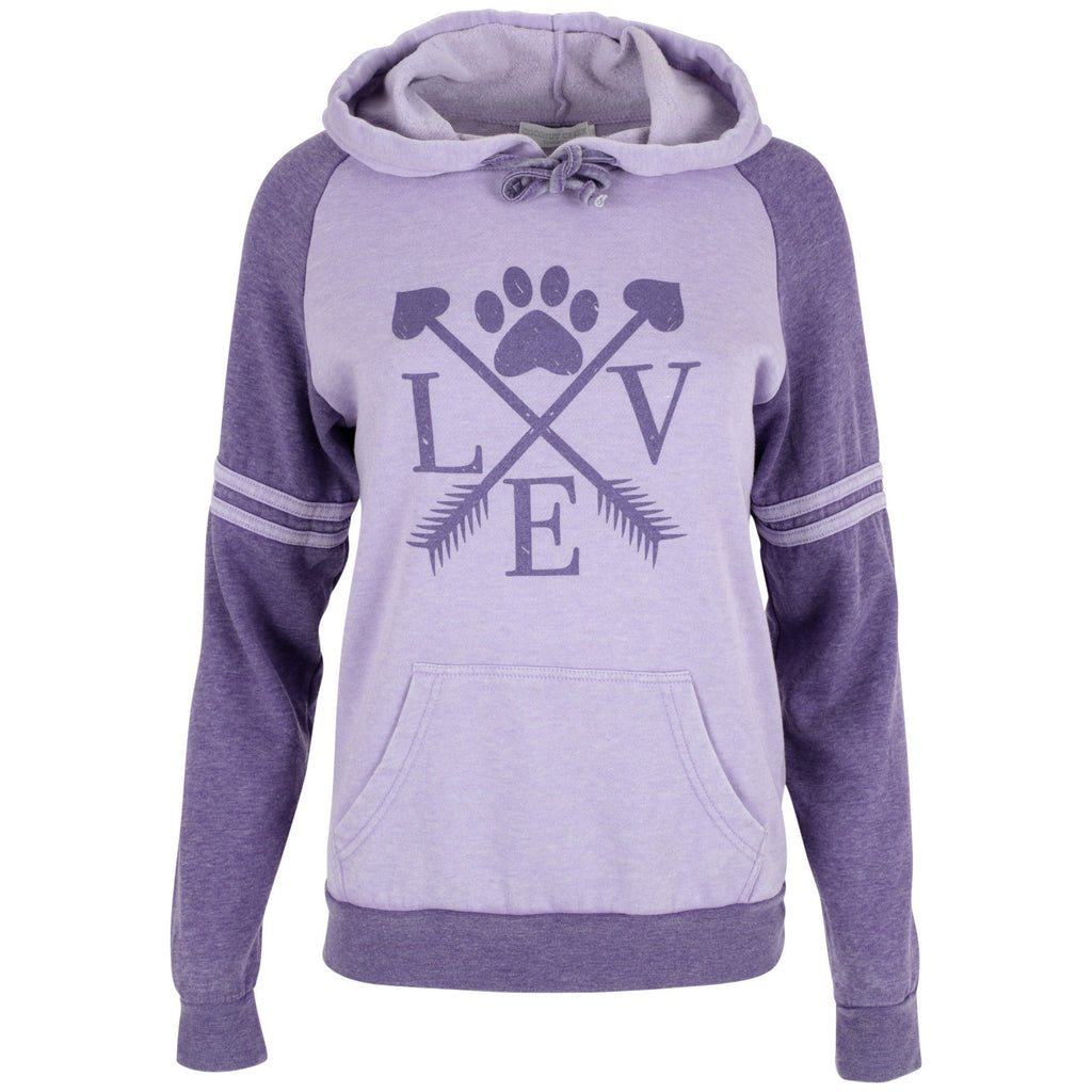 Love Paw Arrow Hooded Sweatshirt