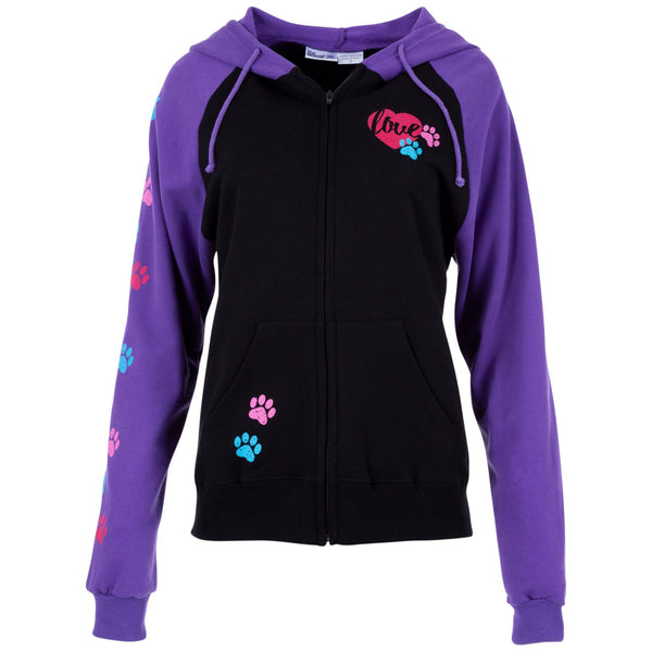 Love Paws Two Toned Zip Hoodie