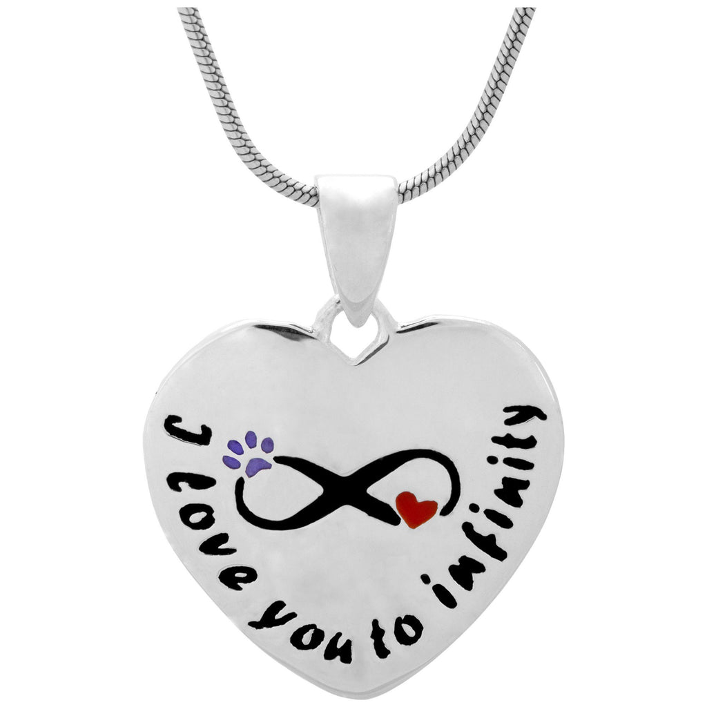 Love To Infinity Sterling Paw Necklace