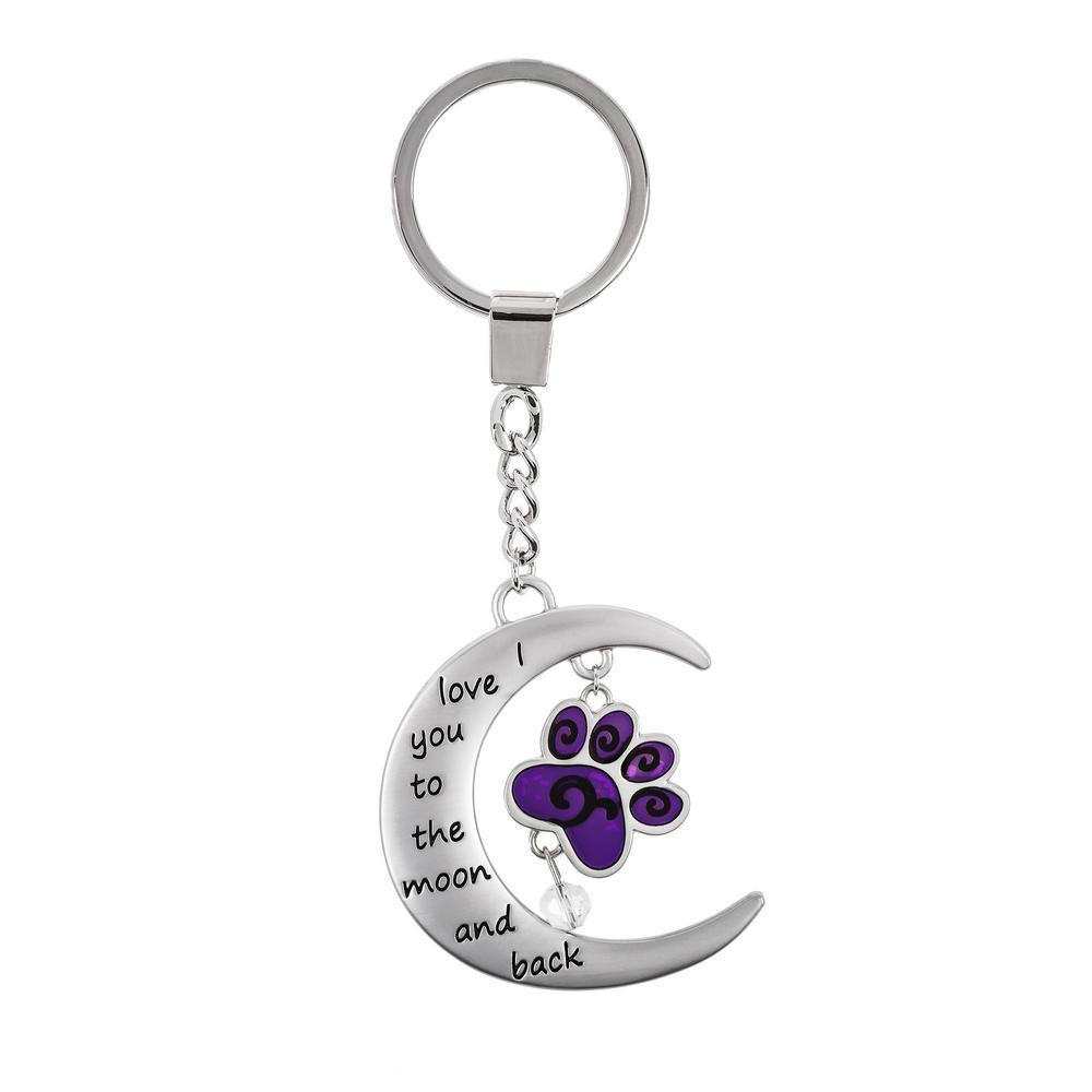 Love You To Moon & Back Charm Keychain
