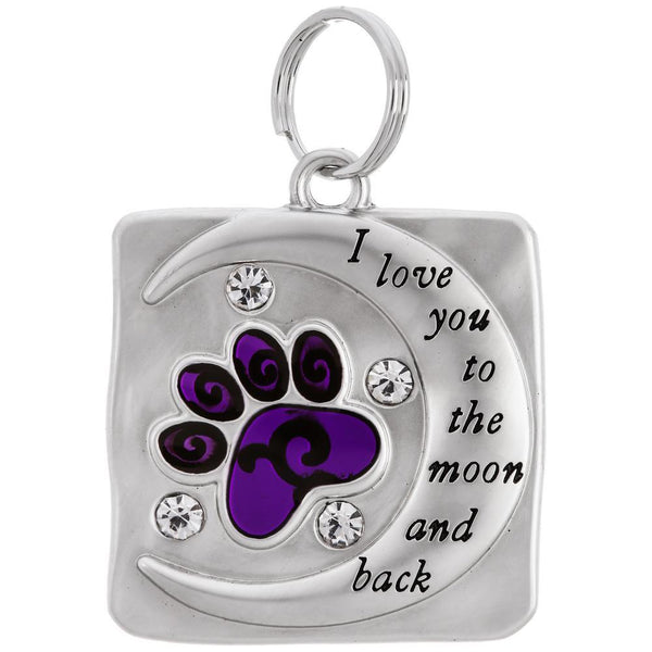 Love You To Moon & Back Charm Pet Tag