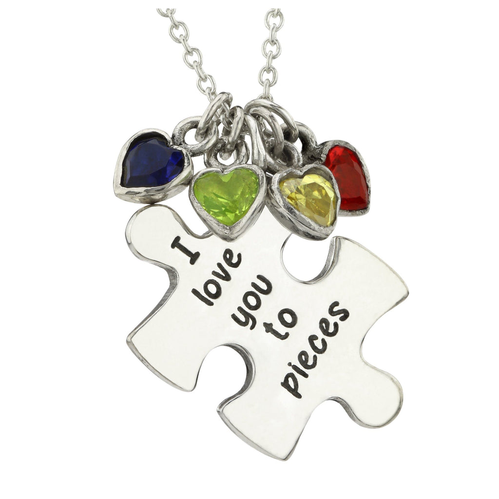 Love You To Pieces Sterling Necklace