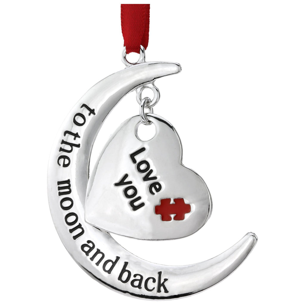 Love You To The Moon & Back Autism Ornament