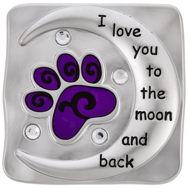 Love You To The Moon & Back Paw Visor Clip