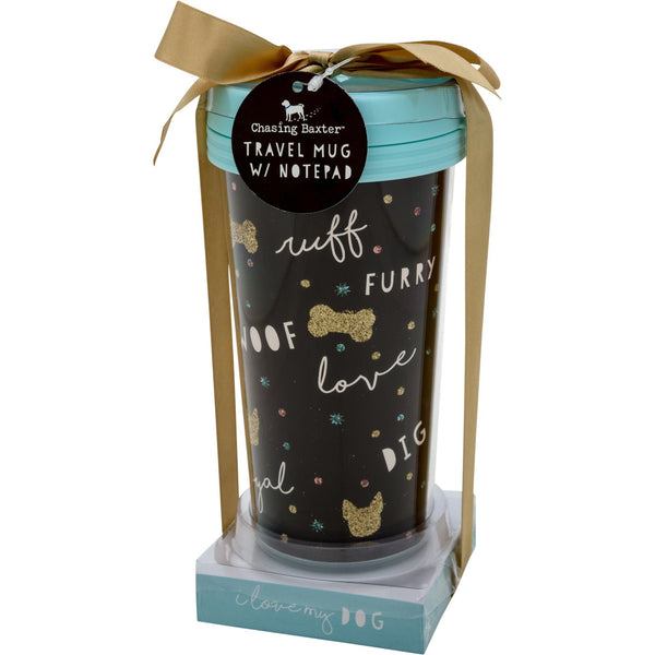 Loving Dog Travel Mug & Memo Set
