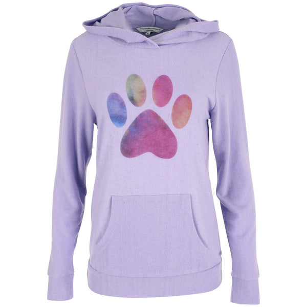 Lush Watercolor Paw Pullover