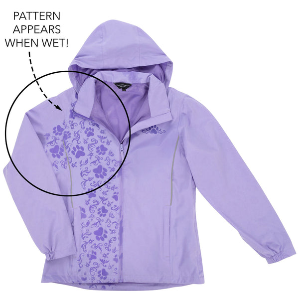 Magical Print Paw Print Rain Jacket