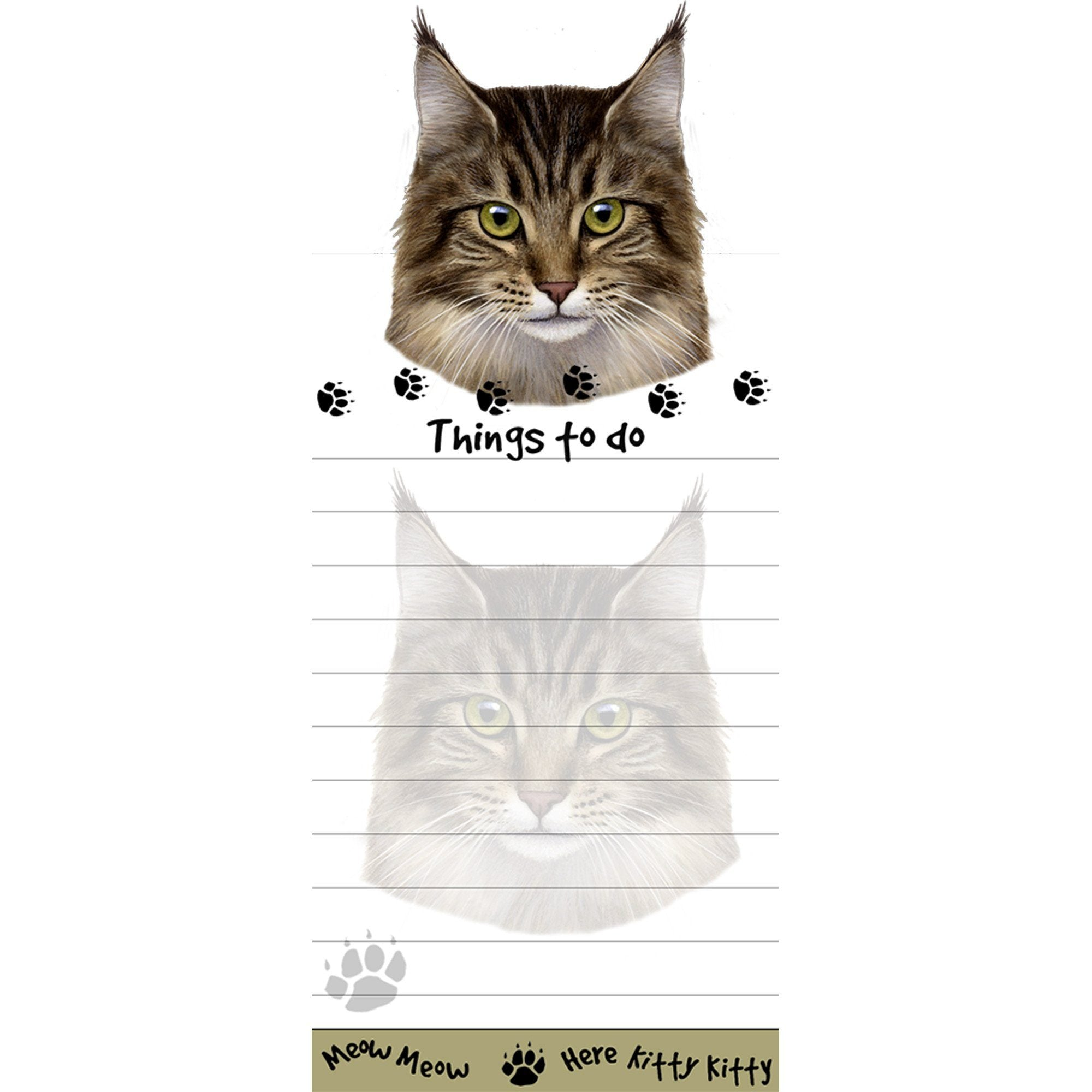 Maine Coon Cat Magnetic Sticky Notepad