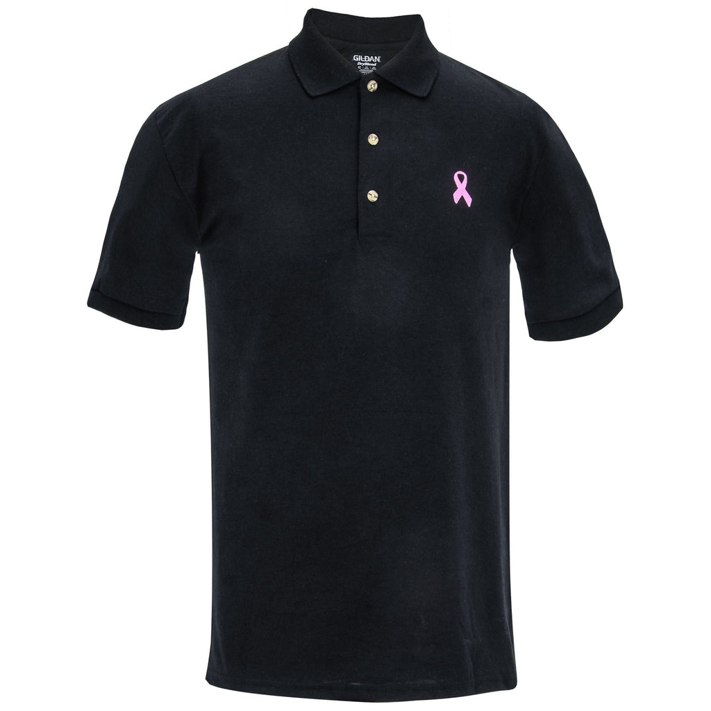 Men's Pink Ribbon Polo Shirt