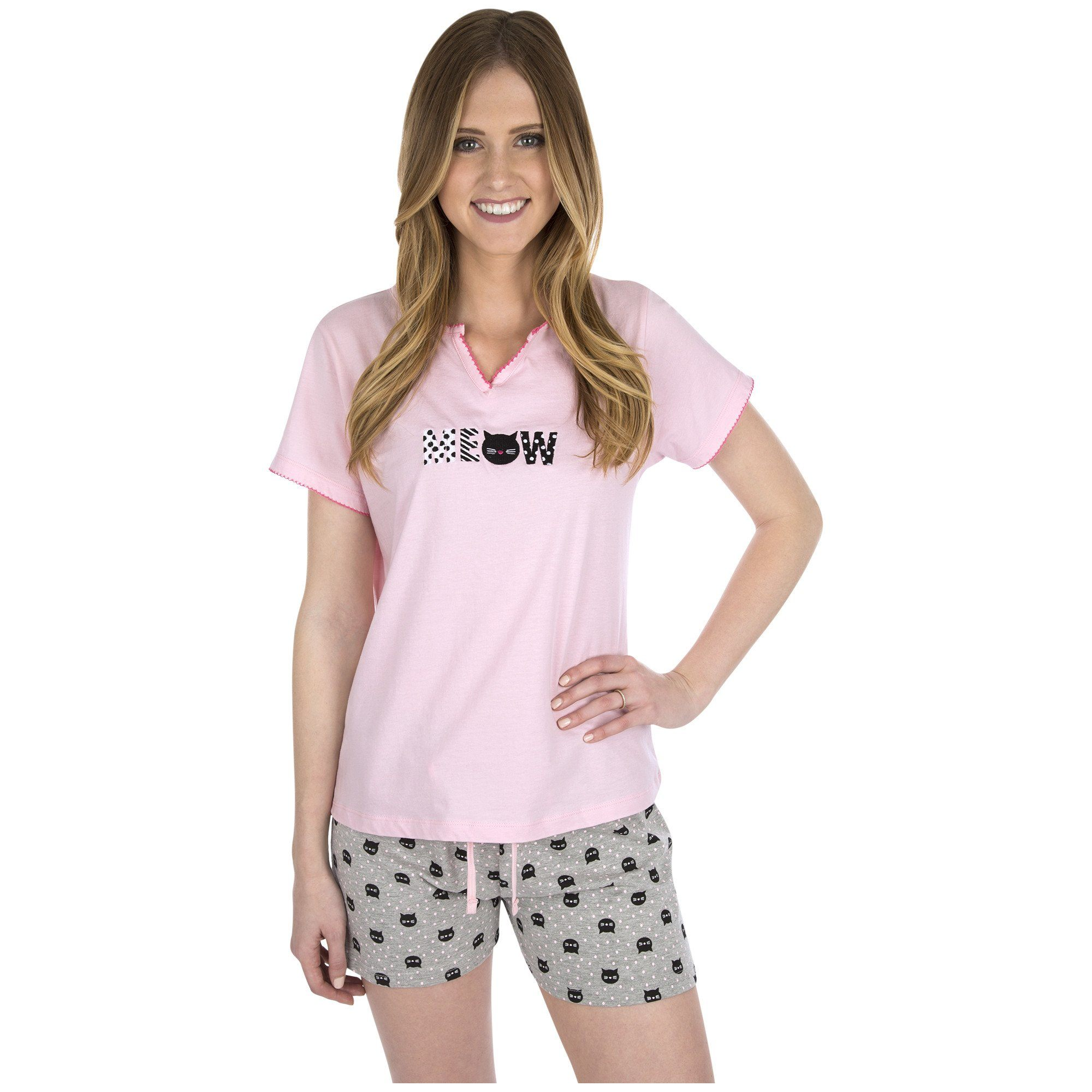 Meow & Woof Pajama Shorts Set Collection