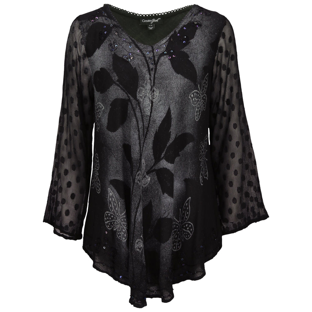 Midnight Butterfly Tunic Collection