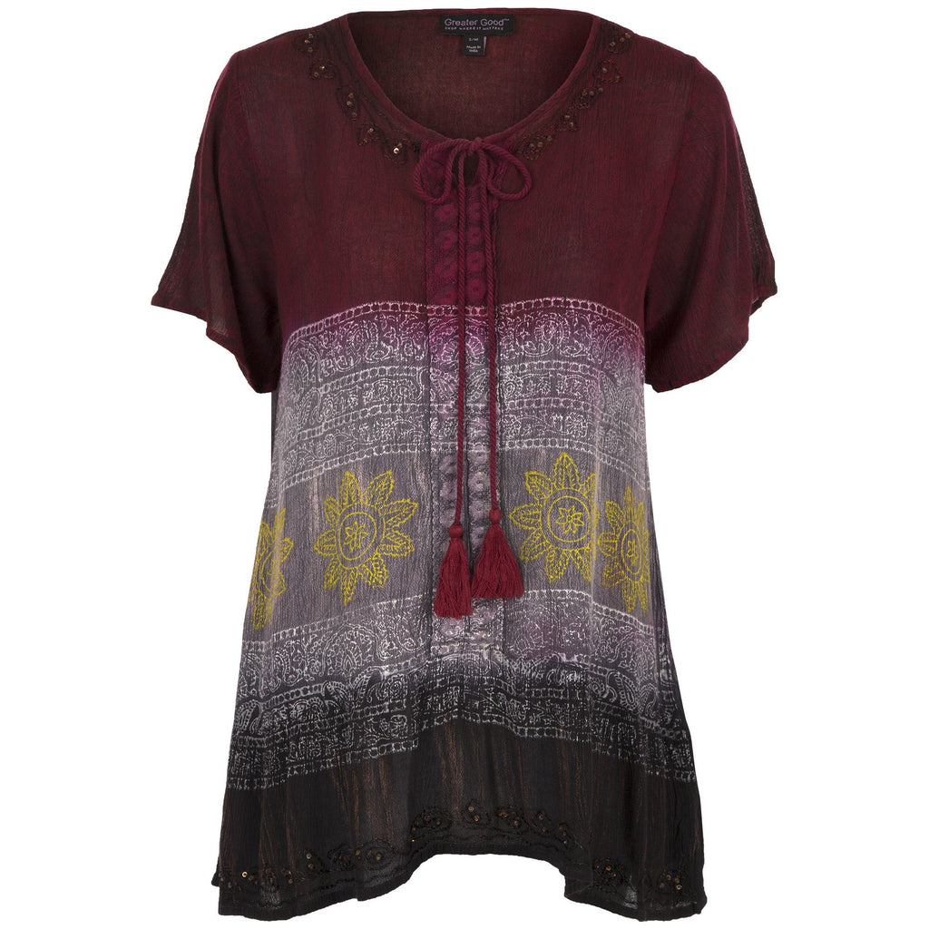 Midnight Sun Short Sleeve Tunic