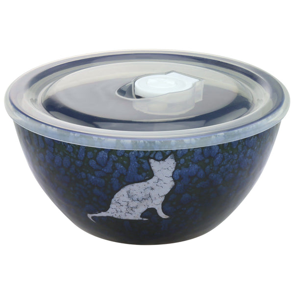 Moonlit Cat Soup Bowl & Lid